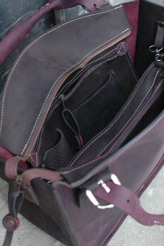 Leather Shoulder Bag with Clutch Set
