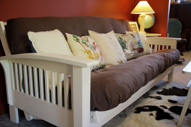 Paint Futon White Futon Living Room Futon Frame Diy Futon