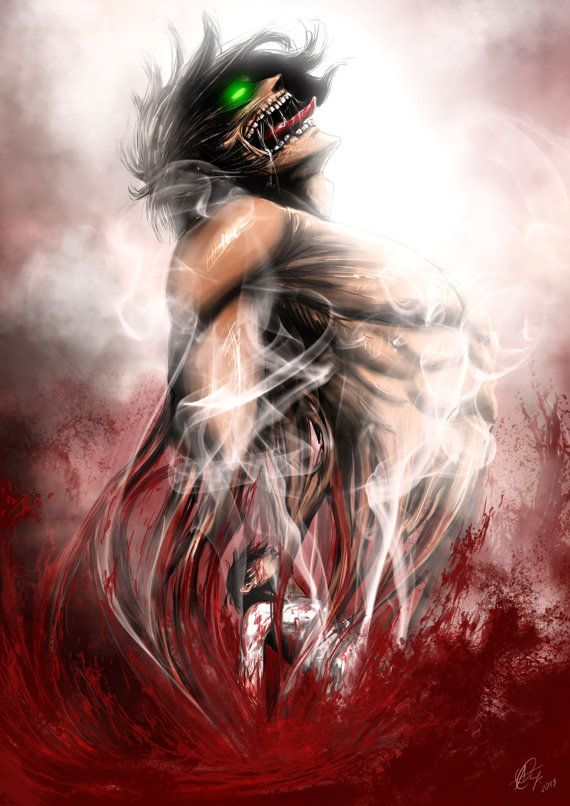 Wrath of the Titan, Shingeki no kyojin fan art, Attack on titan