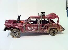 Miniature Demolition Derby Car  www.modelcarsmag.com