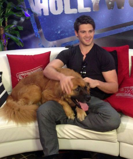 Steven R. McQueen and His Dog Steven R. McQueen paid a visit to the Young Hollywood Studios and brought along his doggy Max as a special guest!