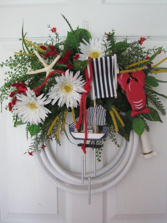 205 best Garden Hose Wreaths images on Pinterest | Spring ...