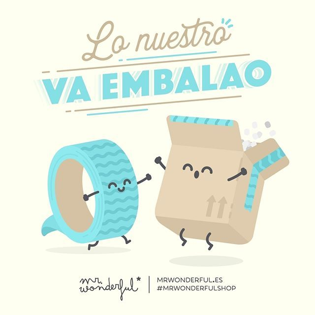 A puntito de batir el récord mundial de felicidad 😝 #mrwonderfulshop #felizmartes We have got it all wrapped up! We are about to break the world record for happiness.