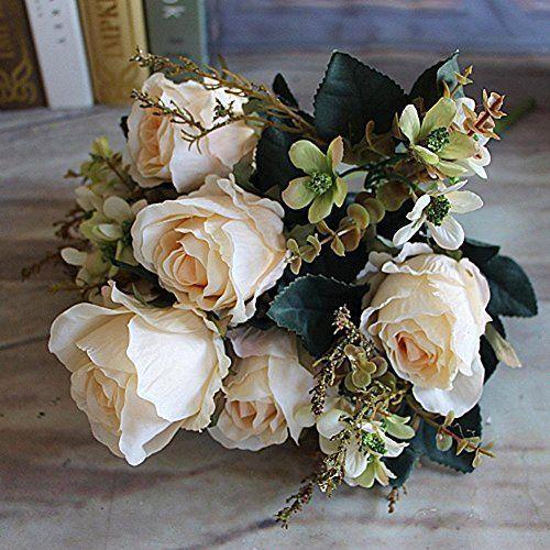 Earl Rose Bouquet Flower Arrangement Beautiful Charming Delightful Silk Large #EarlRoseBouquet