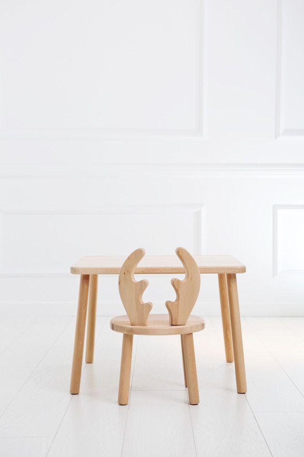 Holz Set Fur Kinder Tisch 2 Stuhle Kindermobel Kind Mit