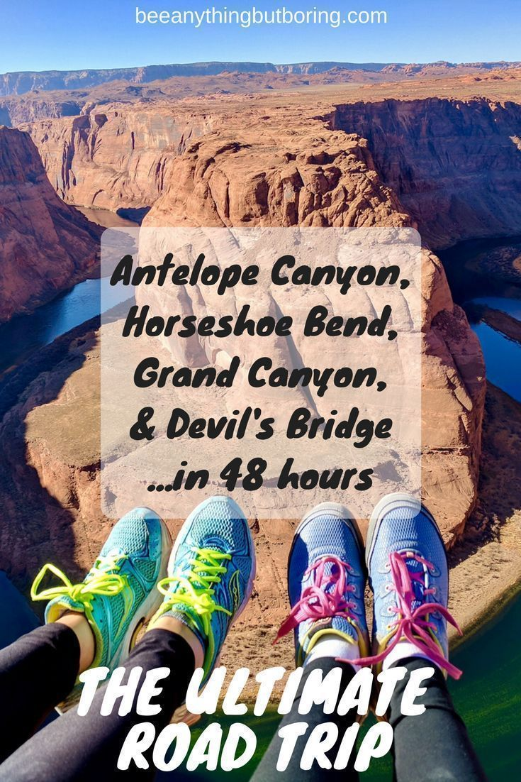 Learn how to see the Grand Canyon in a weekend with this Ultimate Grand Canyon Road Trip Itinerary. Starting in Vegas and ending in Phoenix, you'll tour Antelope Canyon and Horseshoe Bend. You'll hike the Grand Canyon, visit Sedona, and climb to Devil's Bridge before arriving in Phoenix to end the road trip!.