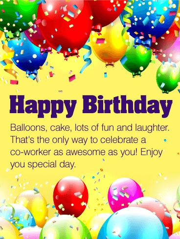 19 best birthday cards for co workers images on pinterest co enjoy your special day happy birthday wishes card for co worker for a bookmarktalkfo Gallery