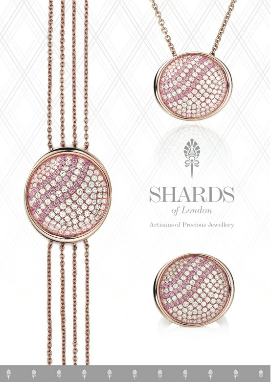 The Persian Rose Collection from Shards of London ll In Middle Eastern culture #roses have long been a symbol of #love and #beauty, and these are the qualities conveyed through this stunning handmade set! shardsoflondon.com/ #Jewellery #Jewelry