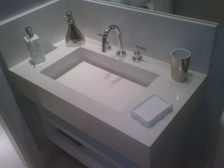 Lavatório Em Branco Prime Melhor Que Porcelanato E Mármore - R$ 1.405,00 em Mercado Livre