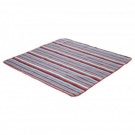 Roll Up Picnic Rug - Azure/Red
