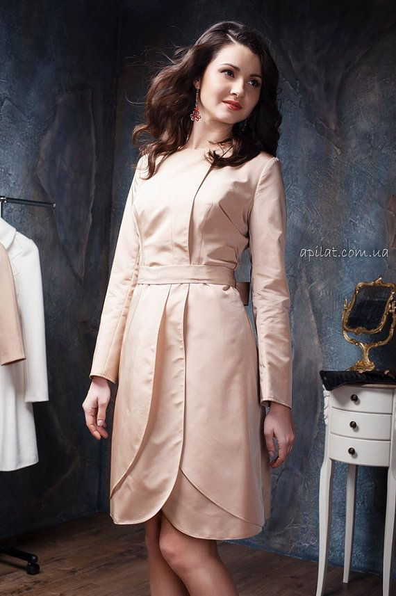 Apilat wedding trench coat C3 by ApilatCreativeAtelie on Etsy, $318.00