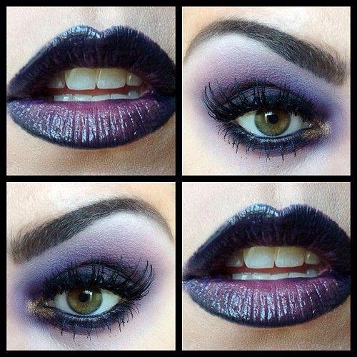 purple, good for Halloween makeup