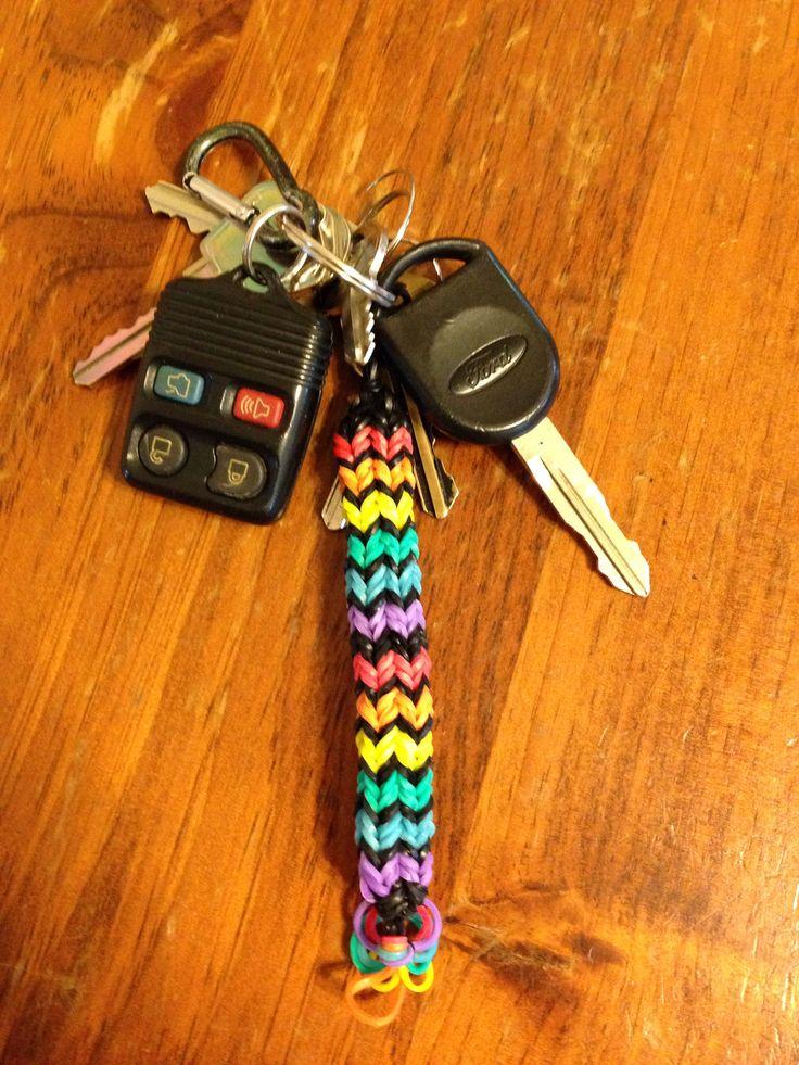 Rainbow loom keychain