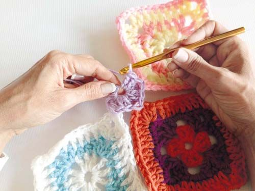 Heart Handmade UK: Crochet Super Quick Patchwork Blanket Pattern from Ideas Mag South Africa