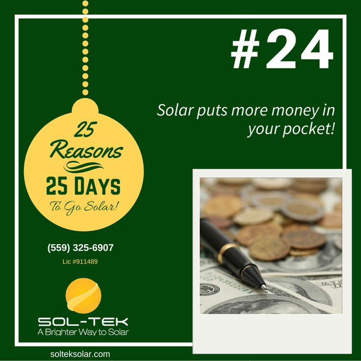 Solar puts money in your pocket! Loan interest rates are at an all-time low and programs like Hero make energy-saving home improvements more affordable than ever. Learn more at www.solteksolar.com #GoSolar #SaveElectric