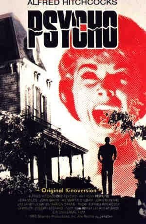 Psycho directed by Alfred Hitchcock