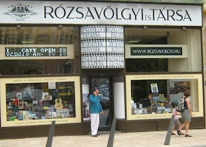 """Rozsavolgyi Szalon. Downstairs is the music store; upstairs is the salon, where they hold concerts regularly. My stepfather, a classical music devotee, said to the cashier, """"This is the best music store I've ever seen."""" The cashier smiled and said, """"We know."""""""