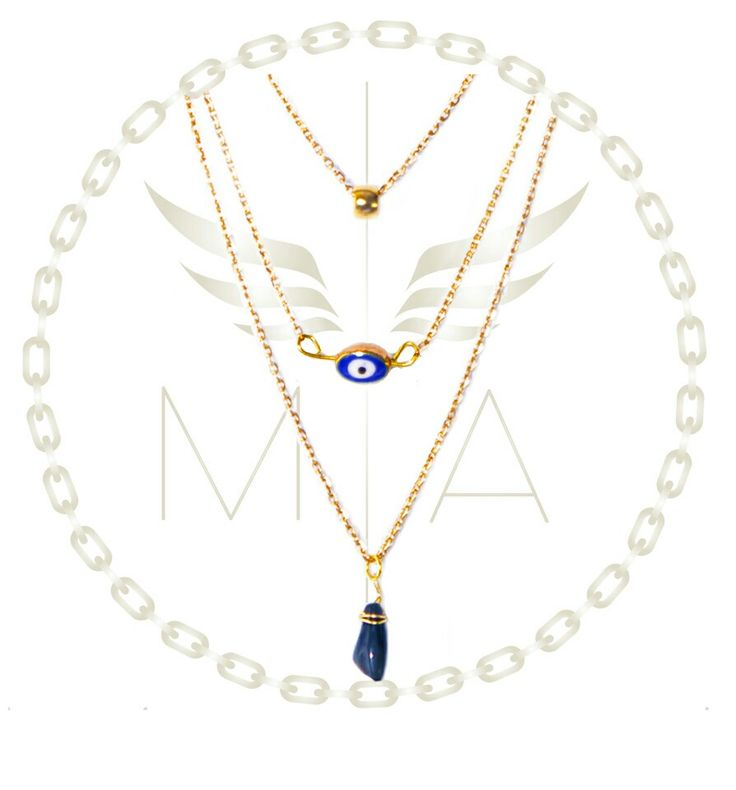Collar ojo azul by Mery Angel accesorios #collar #moda #accesorios #estilo #fashion #trendy #jewelry #estilo #fashion #chain #bogota #meryangel