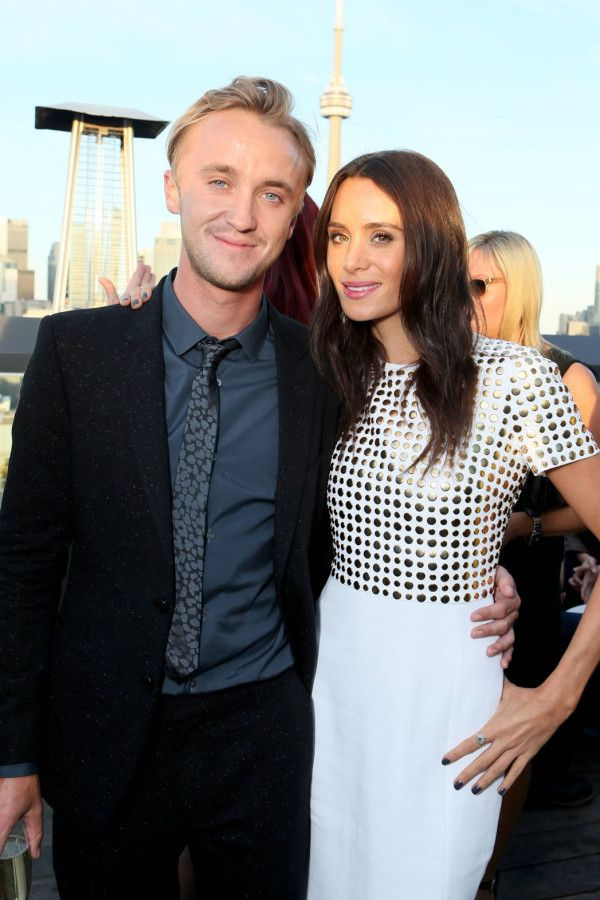 Fabulously Spotted: Tom Felton & Jade Olivia In Burberry - The Hollywood Reporter's Honoring Cocktail Reception - http://www.becauseiamfabulous.com/2013/09/tom-felton-jade-olivia-in-burberry-the-hollywood-reporters-honoring-cocktail-reception/