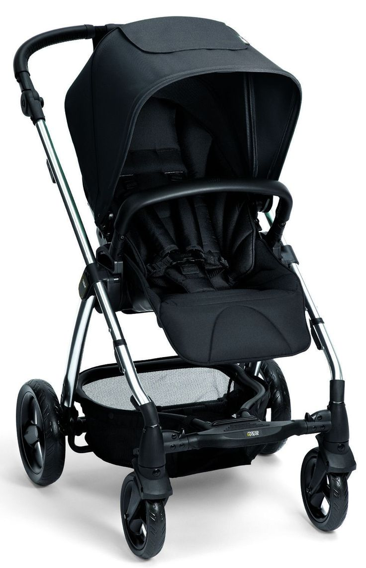 Mamas & Papas Sola 2 Chrome Reversible seat Baby Stroller w/ Carrycot 2017 Black