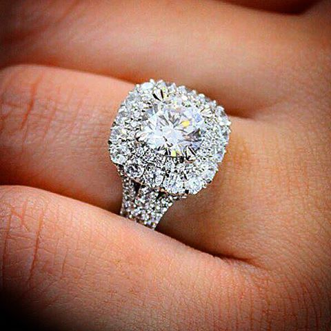 find this pin and more on engagement rings - Square Diamond Wedding Rings