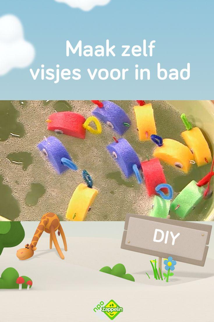 Diy Maak Zelf Visjes Voor In Bad Probeer Ze Eruit Te Hengelen Knutselen Activiteiten Voor Kinderen Activiteiten