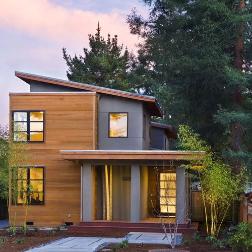 two types of siding jameshardiebp and cedar panels modern design - Home Design Types