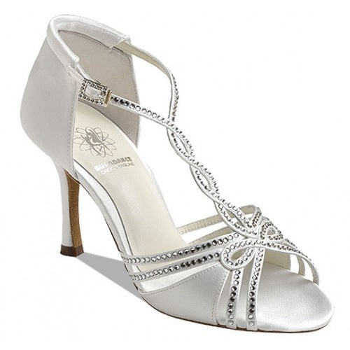 Supadance 1544, white satin  Sandal with Swarovski Crystals. Regular fitting.   Price: 135.40€