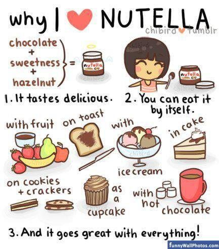 Funny Nutella   Why I love Nutella   Funny Wall Photos