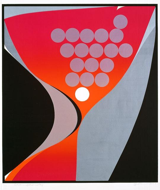 Uke 1: Gunnar S. Gundersen, Champagnedag, 1973. Serigrafi, tilhører Nasjonalmuseet