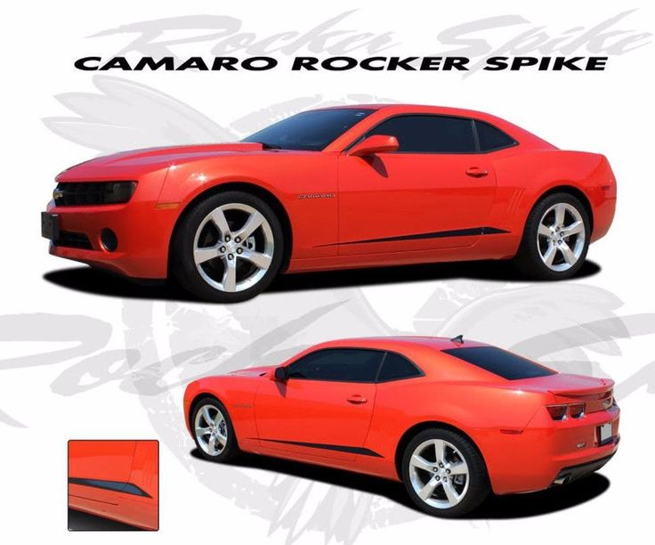 2010-2013 and 2014-2015 Chevy Camaro Rocker Spikes Lower Rocker Spears Vinyl Stripes 3M Kit