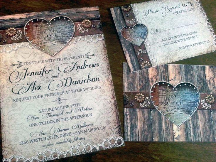 Rustic Barn Weddings | BarnWedding Rustic Barn Wedding Invitations for that Country Bride