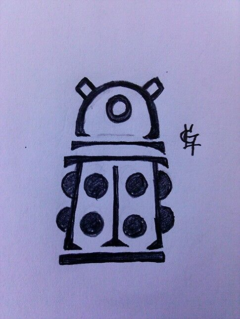 Dr.Who, Dalek tattoo design i did and will be getting soon.