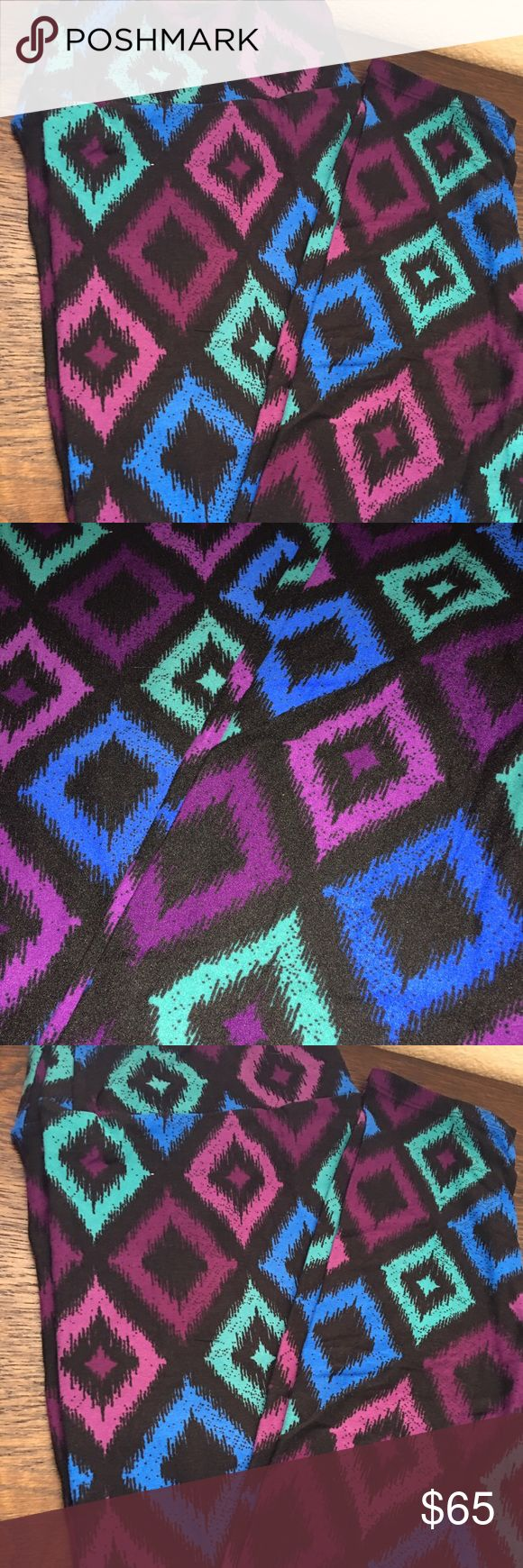 LuLaRoe TC leggings. Unicorn Tall and curvy LuLaRoe TC leggings. Hard to find print. Colors are absolutely gorgeous, much prettier in person. Buttery soft as all of the leggings are. LuLaRoe Pants Leggings