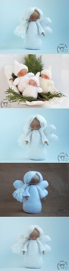 Andělé a Gnomes ... Bílé Vánoce ....