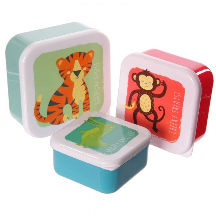 LBOX01 - Set Portapranzo Animali dello Zoo - #wildlife #accessories #puckator