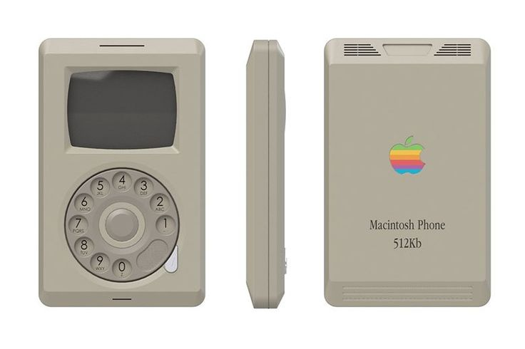 designer conceptualizes the apple macintosh phone may be what the iphone wouldve looked like in 1984
