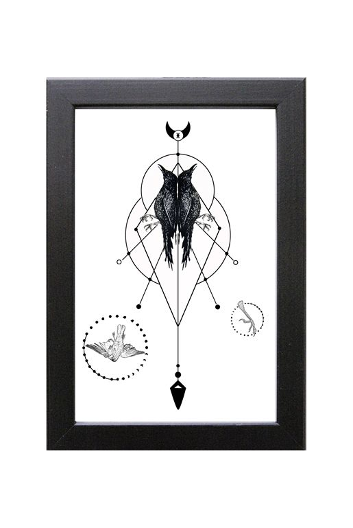 Geometrisk Art print – Dead crows | Foxboheme