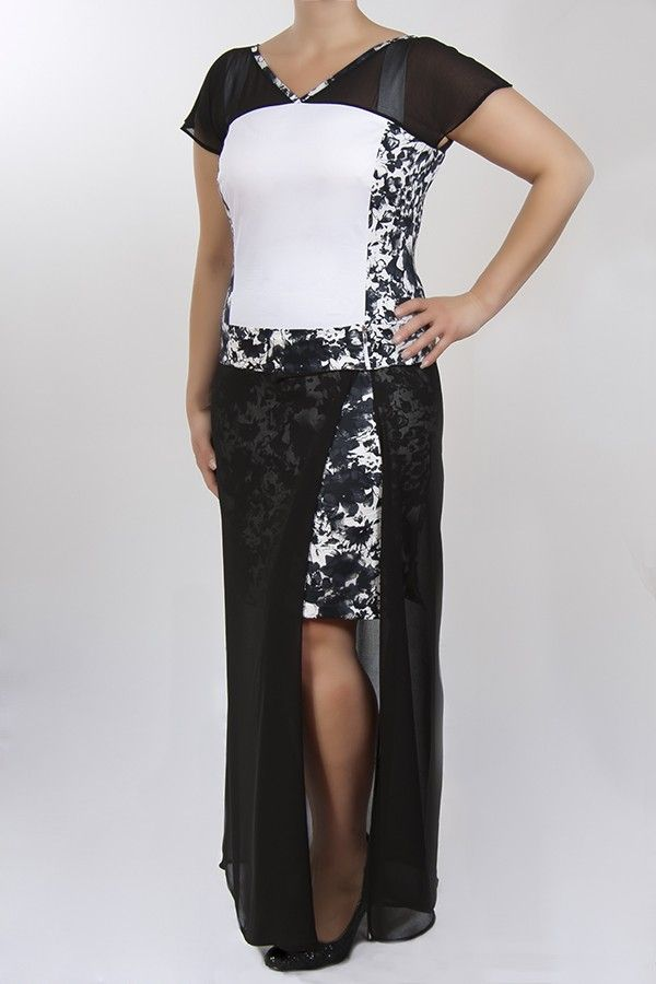 Nikita alkalmi ruha - fekete-fehér