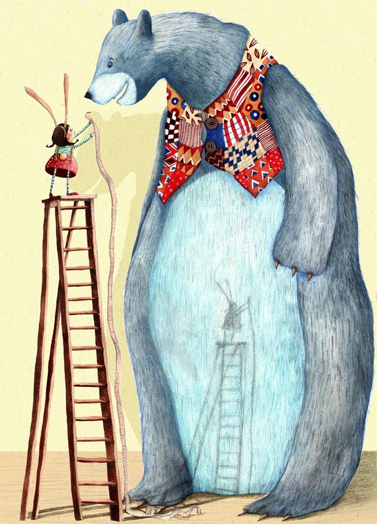 Giant Blue Bear by Holly Clifton-Brown