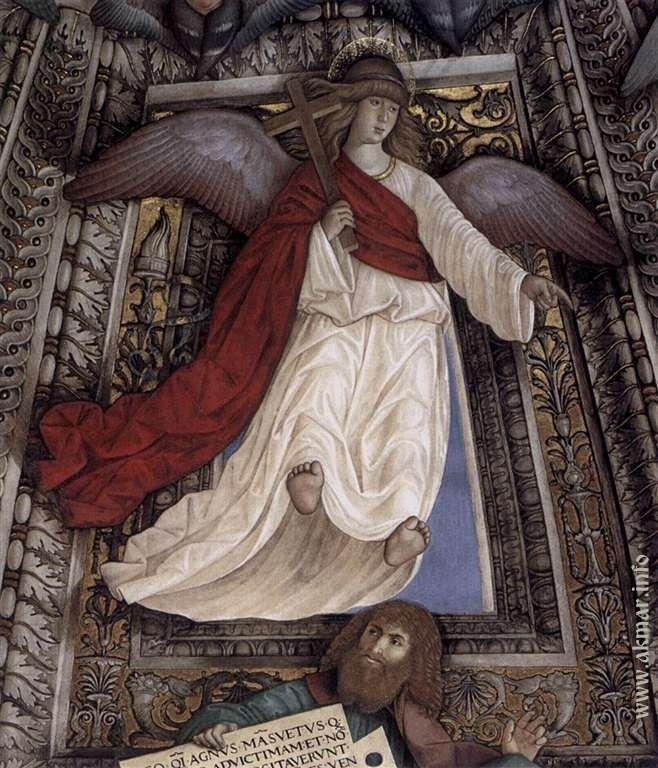 Ангел. После 1484. Купол ризницы Сан-Марко базилики Санта делла Каса. Лорето. Италия