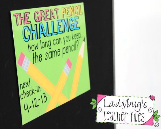Ladybug's Teacher Files: The Great Pencil Challenge (managing pencils!)