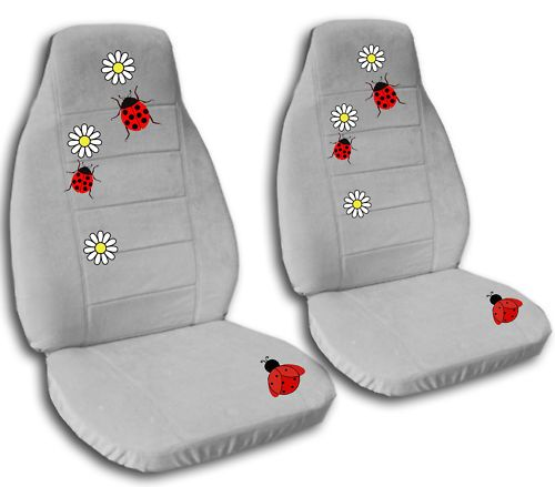 Cute Set of Ladybug Car Seat Covers Choose UR Colors