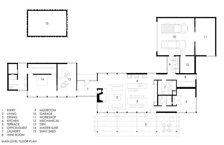 Floor Plan Drawing Photo 16 Of 16 In This Glass House And Shiny Shed Merge With Nature In Minnesot Glass House Modern Glass House Glass House Design