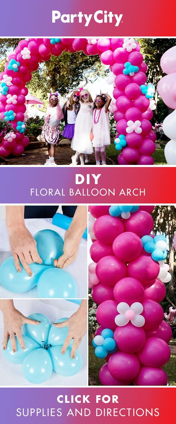 Visit Partycity For Floral Arch Birthday Balloon How To And Shop Girls Balloons Party Supplies Decor Birthdaypartyideas Birthdayparty