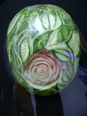 THOT KINJI: Arte Mukimono (Sandía y melón)