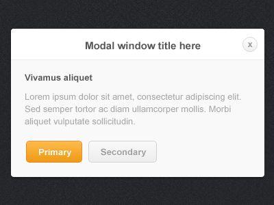 Modal Window featuring a Minimal design. Via: http://drbl.in/eciq #ui #dialog #design #webdesign #graphic