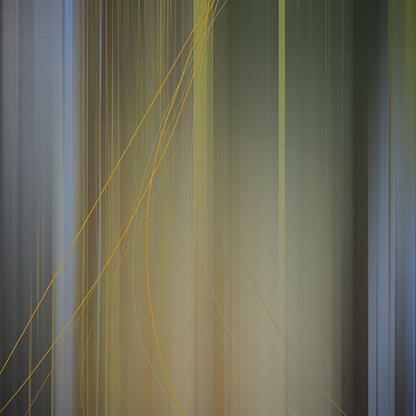 """Wireframe 2. Large strokes combine to form fields of color like gossamer silks. Delicate """"wires"""" of color define a foreground and provide a counterpoint. Art Prints and Home Decor abstract, art4sale, vertical lines, muted colors"""