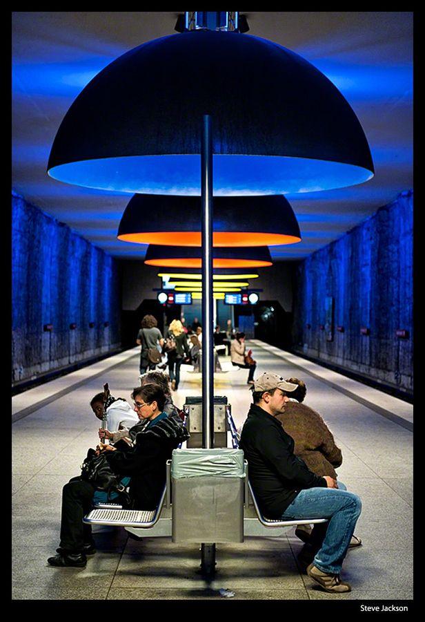 Westfriedhof Station, Munich by Steve Jackson, via 500px