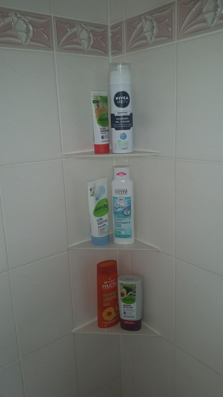 Shower shelf made of tiles Building instructions to build yourself